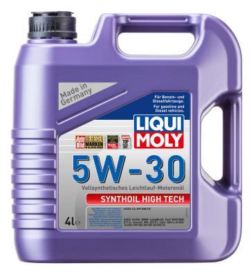 Cинтетическое моторное масло LiquiMoly Synthoil High Tech 5W30 4 л 9076 cинтетическое моторное масло liquimoly synthoil high tech 5w40 4 л 1915