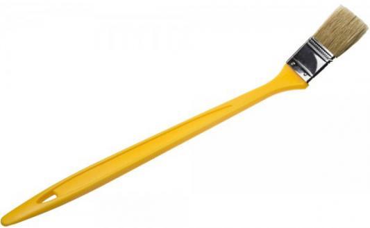 Кисть радиаторная STAYER UNIVERSAL-MASTER, светлая натуральная щетина, пластмассовая ручка, 25мм[0110-25_z01] кисть радиаторная stayer universal master натуральная щетина пластмассовая ручка 50мм 0110 50 z01
