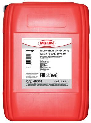 цена на НС-синтетическое моторное масло Meguin Motorenoil UHPD Long Drain R SAE 10W40 20 л 48061