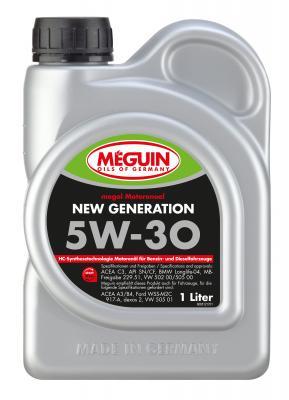 НС-синтетическое моторное масло Meguin Motorenoel New Generation 5W30 1 л 6512 9042d liquimoly нс синт мот масло molygen new generation 5w 30 4л фонарик арт 7520r