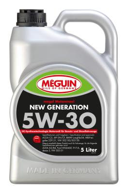НС-синтетическое моторное масло Meguin Motorenoel New Generation 5W30 5 л 6513 9042d liquimoly нс синт мот масло molygen new generation 5w 30 4л фонарик арт 7520r