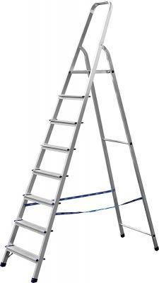 Лестница-стремянка СИБИН алюминиевая, 8 ступеней, 166 см [38801-8] стремянка алюминиевая fit 8 ступеней