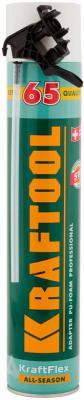 Пена KRAFTOOL KRAFTFLEX 65монтажная, адаптерная, всесезонная, 750мл [41175] пена монтажная tytan 65 о2 проф 750мл арт sel t 0005