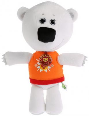 Купить Мягкая игрушка медведь Карапуз Медвежонок Белая тучка плюш синтепон белый 30 см, Герои мультфильмов