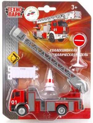 все цены на Пожарная машина ТЕХНОПАРК Пожарная разноцветный 6 шт 15 см онлайн