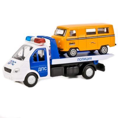 Купить Эвакуатор ТЕХНОПАРК ГАЗЕЛЬ ЭВАКУАТОР бело-синий 12 см SB-16-42-T1-WB (48), Игрушечные машинки