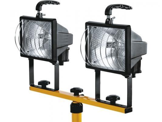 Прожектор NAVIGATOR 2x500Вт NFL-T2H2-500-R7s/BLY галогеновый на штативе черно-желтый прожектор navigator 500вт nfl ph2 500 r7s bly галогеновый черный переносной