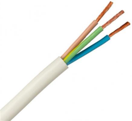 Провод соединительный ПВС РЭК-PRYSMIAN 3x2.5 мм круглый 100м белый
