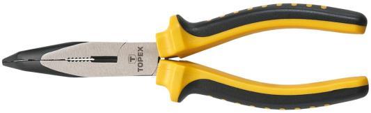 Плоскогубцы TOPEX 32D103 удлиненные изогнутые 160мм плоскогубцы topex 32d101 удлиненные прямые 160мм