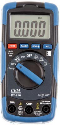 Мультиметр CEM DT-916 600В 10А мультиметр cem dt 932n цифровой true rms