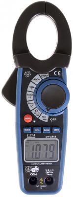 Клещи токоизмерительные CEM DT-3343 для постоянного тока, с датчиком температуры до 1000°C цена