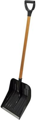 купить Лопата для уборки снега НАША ЛОПАТА Диггер 705 340мм 1300мм 1.1кг деревянный черенок по цене 630 рублей
