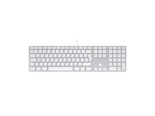 Клавиатура Apple MB110RS/B USB серебристый белый