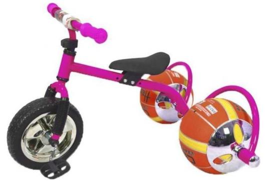 Фото - Велосипед с колесами в виде мячей «БАСКЕТБАЙК» розовый Walking bike on ball, two велосипед с колесами в виде мячей баскетбайк зелёный walking bike on ball two