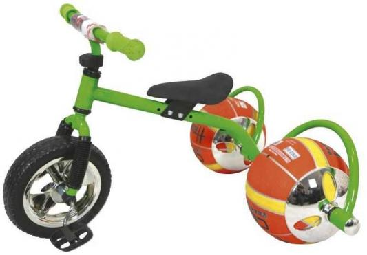Фото - Велосипед с колесами в виде мячей «БАСКЕТБАЙК» зелёный Walking bike on ball, two велосипед с колесами в виде мячей баскетбайк зелёный walking bike on ball two