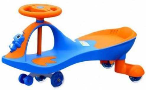 Машинка детская с полиуретановыми колесами «БИБИКАР-ЛЯГУШОНОК» синий Frog Bibicar, blue bradex машинка детская с полиуретановыми колесами синяя бибикар