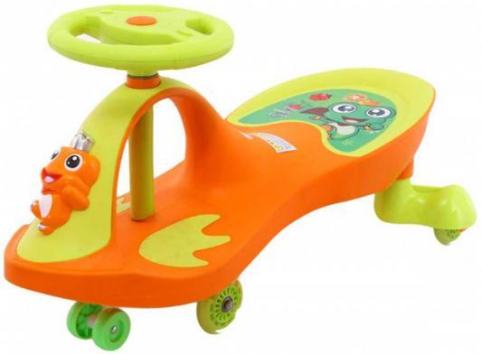 Машинка детская с полиуретановыми колесами «БИБИКАР-ЛЯГУШОНОК» оранжевый Frog Bibicar, orange bradex машинка детская с полиуретановыми колесами синяя бибикар