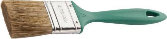 Кисть плоская STAYER 01081-50 lasur-euro смешанная щетина пластмассовая ручка 50мм кисть плоская lasur standard смешанная щетина 20мм stayer 01031 20