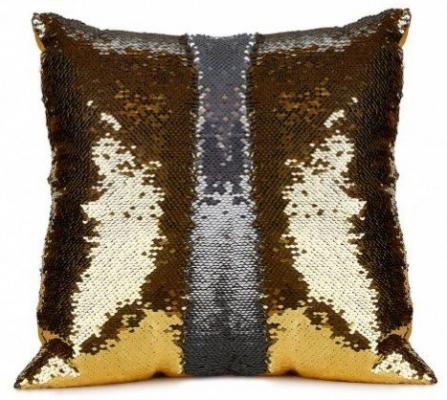 Подушка декоративная «РУСАЛКА» цвет золото/серебро