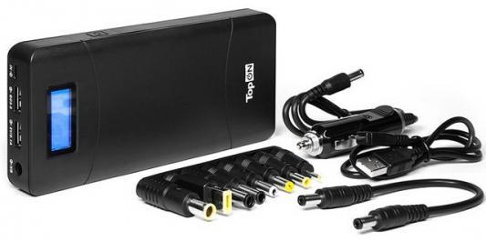 Универсальный внешний аккумулятор 18000mAh (66.6Wh) с 2 USB-портами и QC 2.0, для зарядки ноутбука, планшета, смартфона и аккумулятора авто. Черный. аккумулятор для ноутбука hp compaq hstnn lb12 hstnn ib12 hstnn c02c hstnn ub12 hstnn ib27 nc4200 nc4400 tc4200 6cell tc4400 hstnn ib12