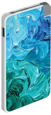Внешний аккумулятор Power Bank 5000 мАч Deppa NRG Art 5000 mAh рисунок белый цена 2017