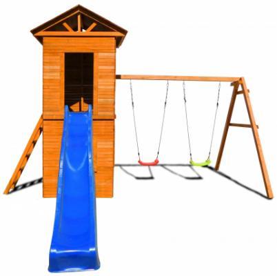 Купить Игровой комплекс Можга Спортивный городок 8 c узкой лестницей СГ8-Р918, коричневый, Детские домики - палатки