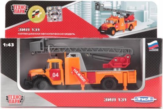 Спецтехника Технопарк ЗИЛ 131 АВАРИЙНАЯ 1:43 оранжевый CT10-001-FT1 машинки технопарк машина технопарк зил 131 милиция полиция