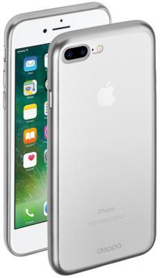 Накладка Deppa Gel Plus Case для iPhone 7 Plus iPhone 8 Plus серебряный 85287 накладка deppa gel plus matt gold для iphone 7 plus золотой 85289