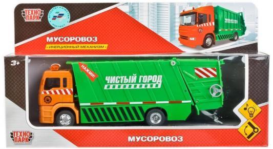 Мусоровоз Технопарк  зеленый 1023S-R