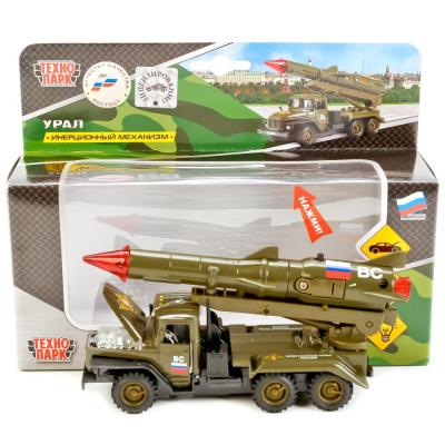Военный Технопарк УРАЛ ВС С РАКЕТОЙ хаки CT10-066-4 игрушка технопарк урал пожарка ct10 100 1
