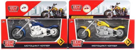 Мотоцикл Технопарк МОТОЦИКЛ ЧОППЕР разноцветный 1297170-R игрушка технопарк электрокар x600 h09225 r