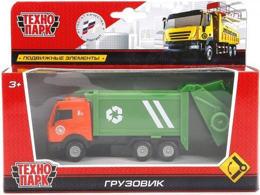 Мусоровоз Технопарк ГОРОДСКИЕ СЛУЖБЫ зеленый 14.5 см 1816-1ACD-R мусоровоз лена 3х осный 23 см разноцветный 8812