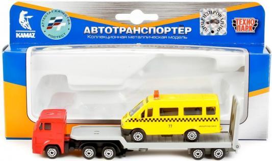 Набор Технопарк КАМАЗ АВТОТРАНСПОРТЕР + ГАЗЕЛЬ желтый SB-17-28WB машинки технопарк машина технопарк металлический камаз автотранспортер