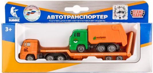 Транспортер Технопарк КАМАЗ оранжевый SB-17-06WB