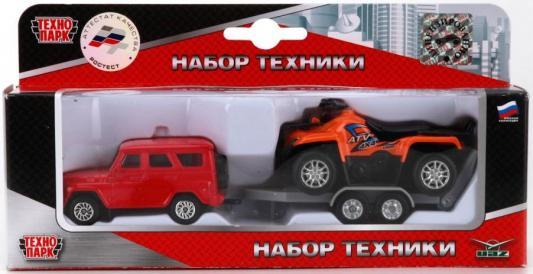 снегокаты технопарк снегоход красный fy363 Набор Технопарк УАЗ красный SB-16-39