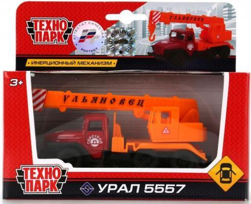 Автокран Технопарк УРАЛ КРАН бордовый SB-16-54-B-WB игрушка технопарк автокран sb 17 78 a wb