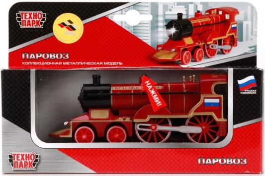 Инерционная машинка Технопарк ПАРОВОЗ красный CT10-028(SB) игрушка технопарк автобус ct10 025 sb