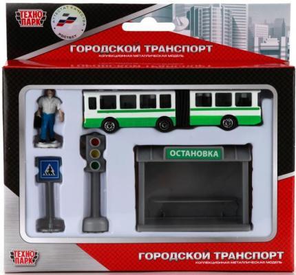 Набор Технопарк АВТОБУС зеленый SB-16-18-B набор технопарк светофором разноцветный sb 13 12
