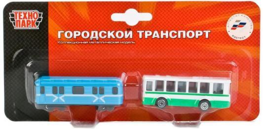 Набор Технопарк ТРАМВАЙ И ТРОЛЛЕЙБУС разноцветный SB-15-06-BLС цена