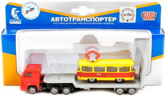 Автовоз Технопарк КАМАЗ 1:72 разноцветный SB-15-04-WB