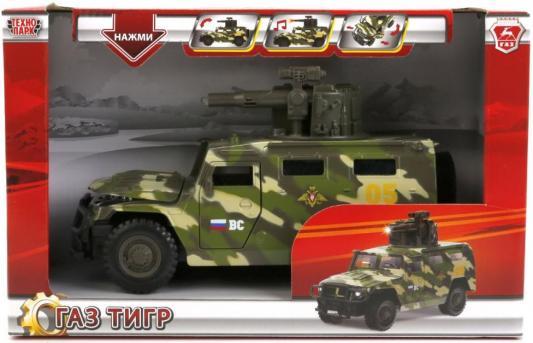 Джип Технопарк ГАЗ ТИГР 1:43 камуфляжный CT12-392-G2 машинка технопарк газ тигр 1 43