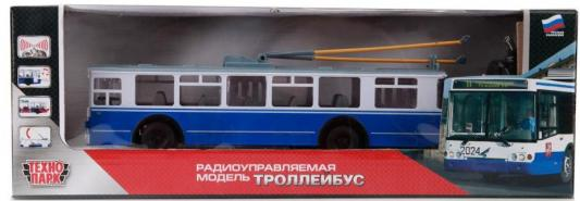 Троллейбус Технопарк ТРОЛЛЕЙБУС синий TROL-RC цена