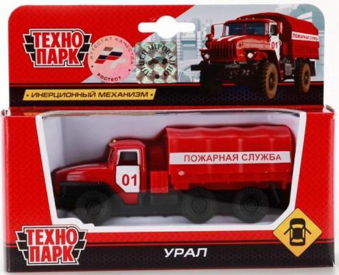 Пожарная машина Технопарк УРАЛ красный SB-15-35-T11-WB автомобиль технопарк машина с пушкой хаки sb 15 59 60 wb