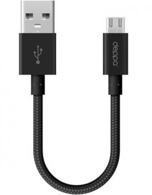 Кабель microUSB Deppa 72259 круглый черный кабель