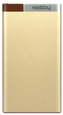Внешний аккумулятор Power Bank 5000 мАч Nobby 0306NB-032-001 золотистый
