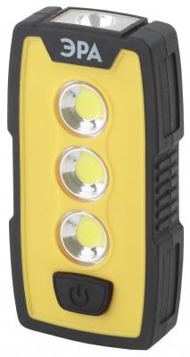 ЭРА Б0029180 Рабочий фонарь RB-802 серия Практик {6Вт COB светодиод, светильник 4Вт, 3xAAA в комплект не входят, крючок, магнит, клипса-прищепка} аккумуляторный фонарь эра fa6w желтый 6вт [б0008963]