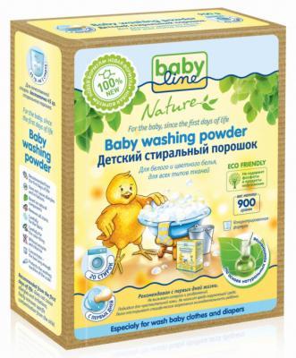 Стиральный порошок на основе натуральных ингредиентов Babyline Nature концентрат 0,9 кг стиральные порошки babyline детский стиральный порошок babyline nature на основе натуральных ингредиентов 900 гр 20 стирок