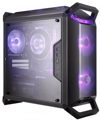 Cooler Master MasterBox Q300P, USB3.0x2, 2x120 RGB Fan, 1x120Fan, Black, ATX, w/o PSU 12v 3pin 120mmx120mmx25mm silen t computer cpu cooler small cooling fan pc black heat sink