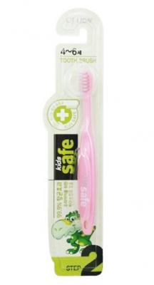 Зубная щетка CJ Lion Kids Safe от 4 до 6 лет cj lion зубная щетка детская kids safe с нано серебряным покрытием 3 с 7 лет