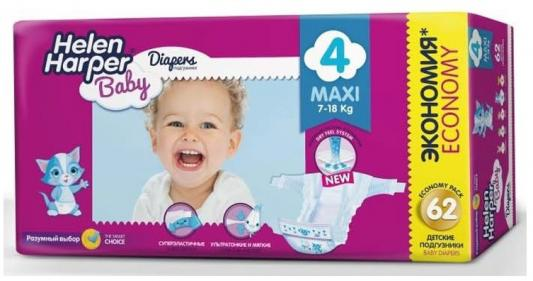 Фото Подгузники Helen Harper Baby размер 4 Maxi (7-18 кг) 62 шт.